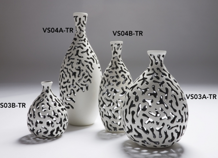 Carved vases small and medium size